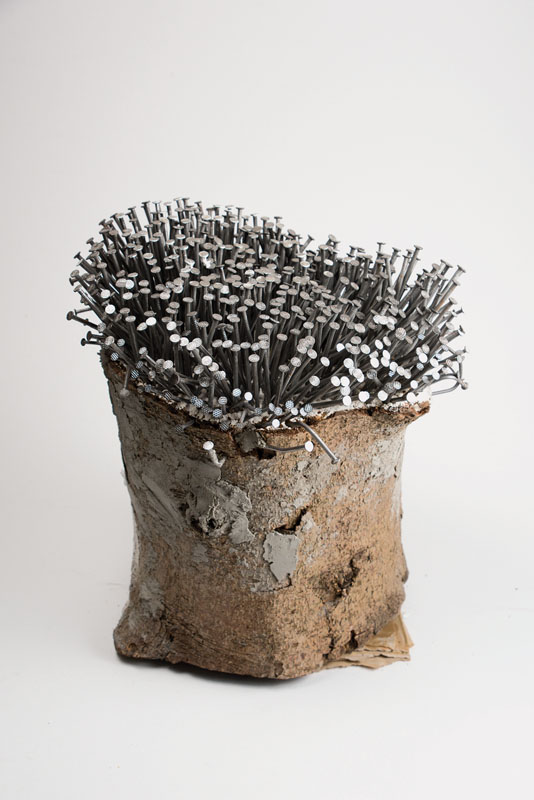 Unknown contemporary artist, nail tree, object