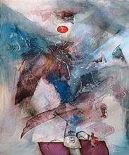 Gerd Ditz, born 1941 Landau, bird day, oil/canvas