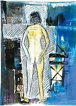 Franz Martin, born 1957, mixed media / gouache