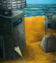 Theo Greiner, born 1959, oil/canvas