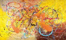 Caroline Vis (CJVIS), born 1965, acrylic/canvas