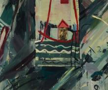 A. Adams, contemporary artist, abstract composition