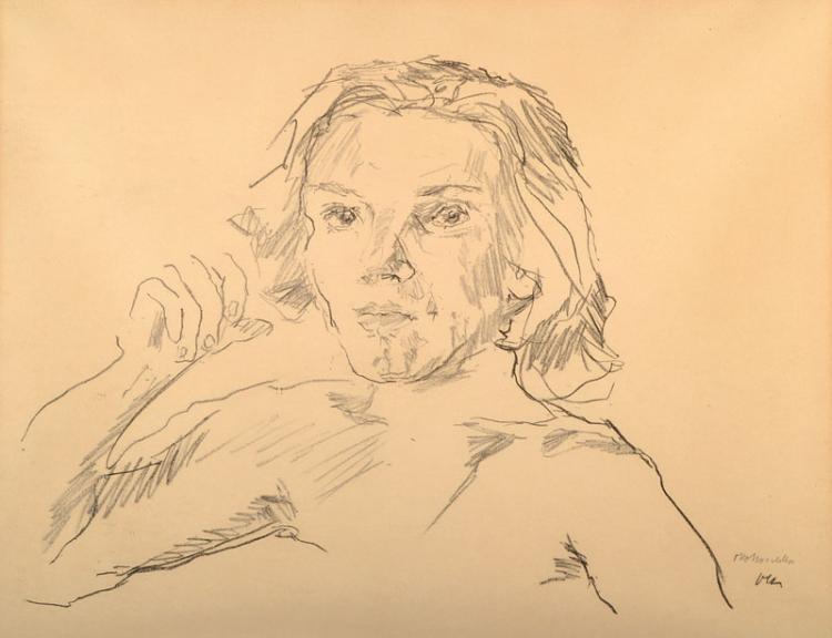 Oskar Kokoschka, 1886-1980, lithograph