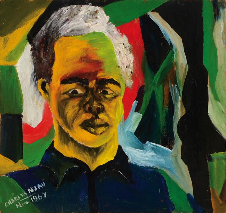 Charles Njau, born 1950, self portrait
