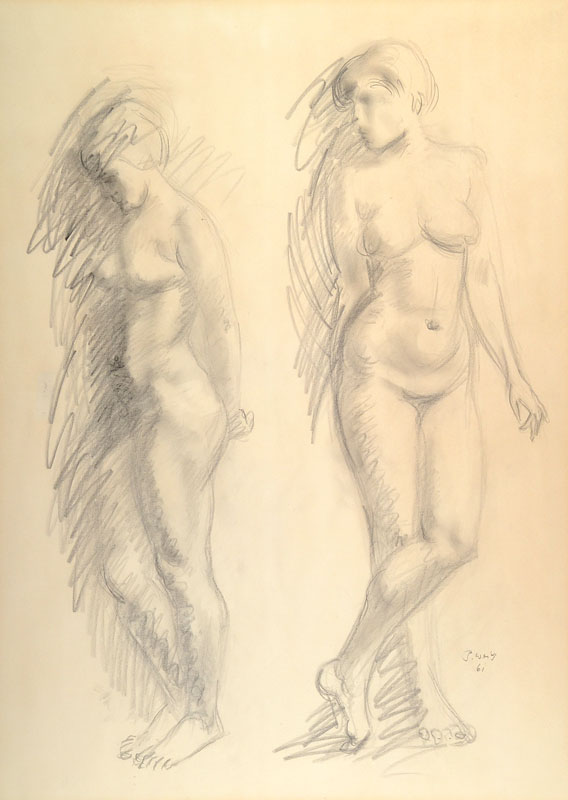 P. Weiss or similar, contemporary artist, drawing