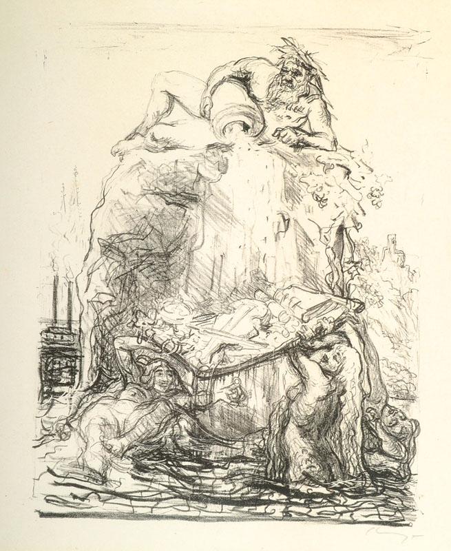 Max Slevogt, 1868-1932, lithograph
