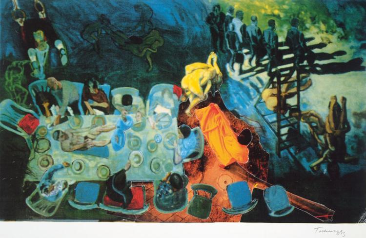 Norbert Tadeusz, 1940-2011, color lithograph, 1993