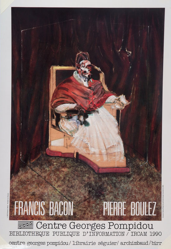 Francis Bacon, 1909-1992, poster, color offset