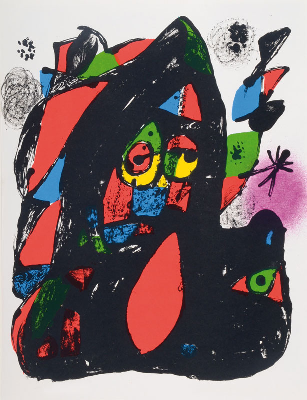Joan Miro, 1893-1983, four lithographies