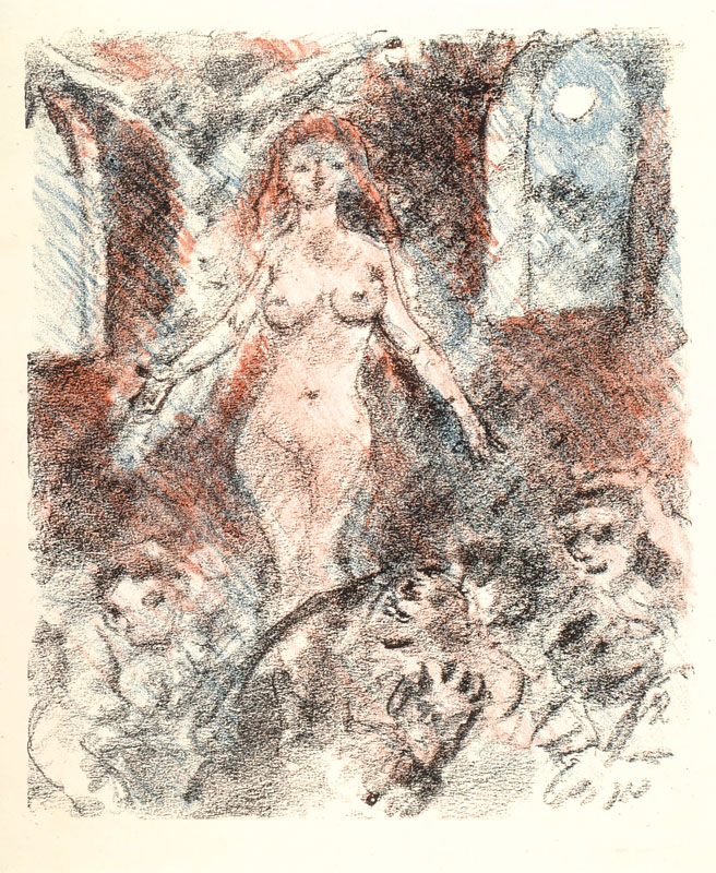Lovis Corinth, 1858-1925, two color lithographies