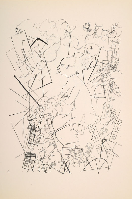 George Grosz, 1893-1959, convolute of four graphics