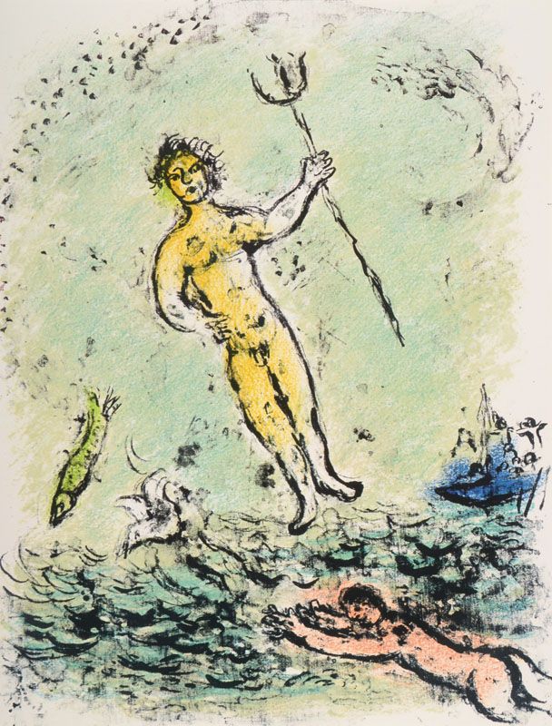 Marc Chagall, 1887-1985, convolute of four lithographs