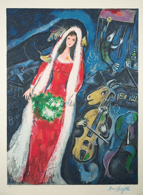 Marc Chagall, 1887-1985, color screenprint