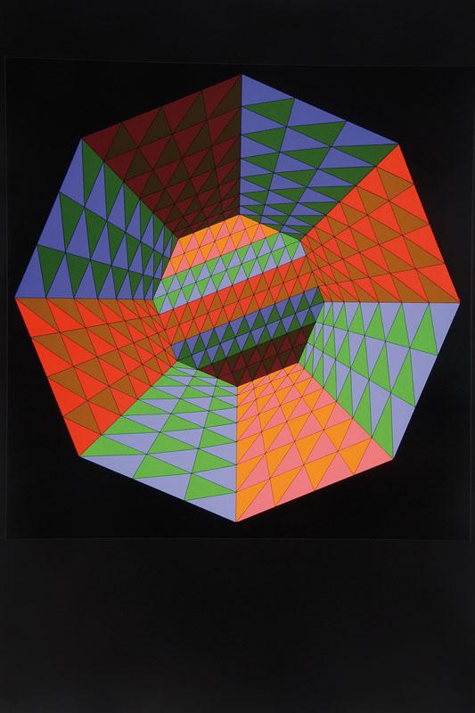 Victor Vasarely, 1906-1997, Heisenberg, serigraph