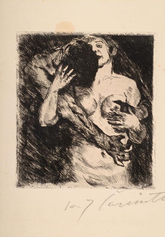 Lovis Corinth, 1858 Tapiau - 1925 Zandvoort, hug, etching