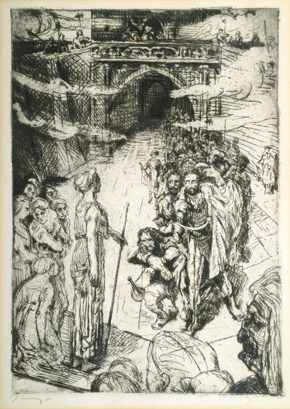 Max Slevogt, 1868-1932, etching for Goethe´s Faust II