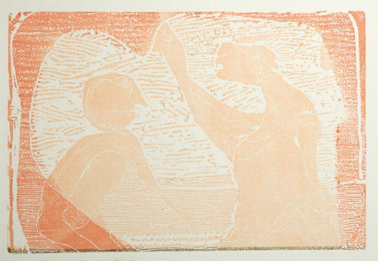 Gerhard Altenbourg, 1926-1989, woodcut, 1981