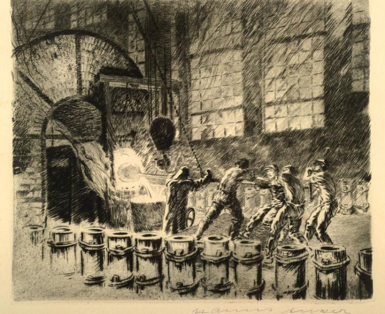 Hanns Anker, 1873 Berlin-1950 Hannover, two etchings