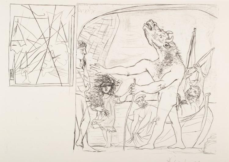 Pablo Picasso, 1881-1973, two lithographies