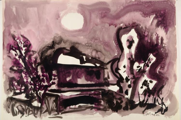 Heinz Tetzner, 1920-2007, watercolor on paper