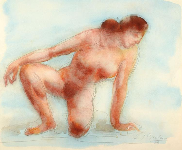 Arno Breker, 1900-1991, nude drawing