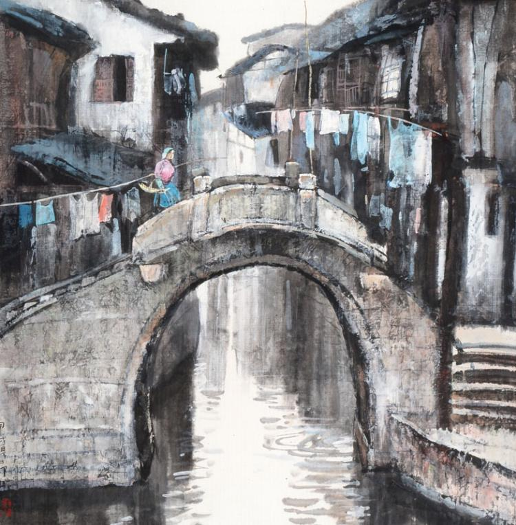 Zou Ming, born 1955 Anhui/China, watercolor