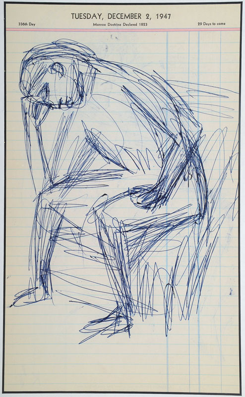 Karl Hubbuch, 1891-1979, pen drawing