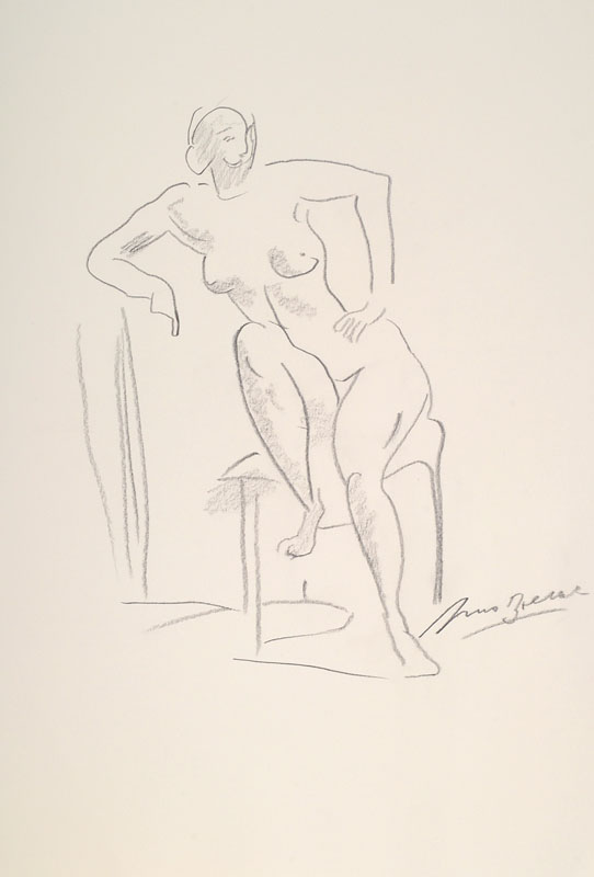 Arno Breker, 1900-1991, pencil drawing