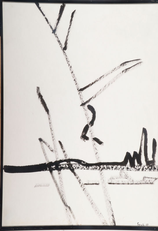 Siegward Sprotte, 1913-2004, Indian ink drawing