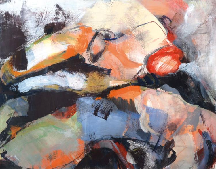 Contemporary Palatinate artist, acrylic