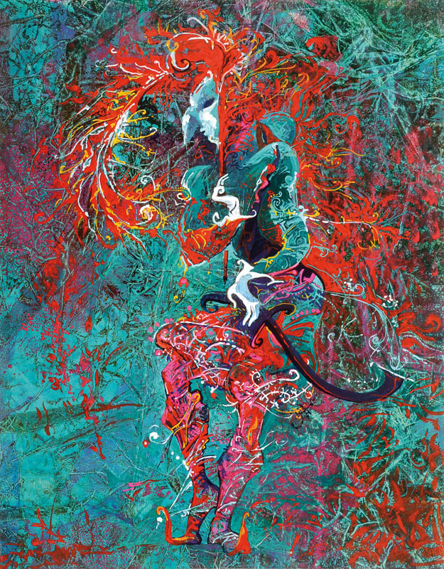 Alina Ivanova, born 1968, mixed media