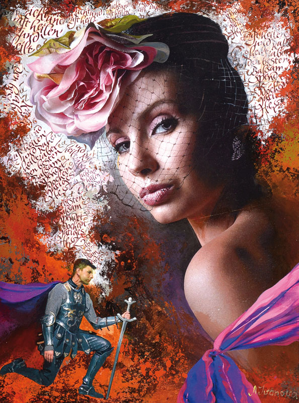 Alina Ivanova, born 1968, mixed media / collage