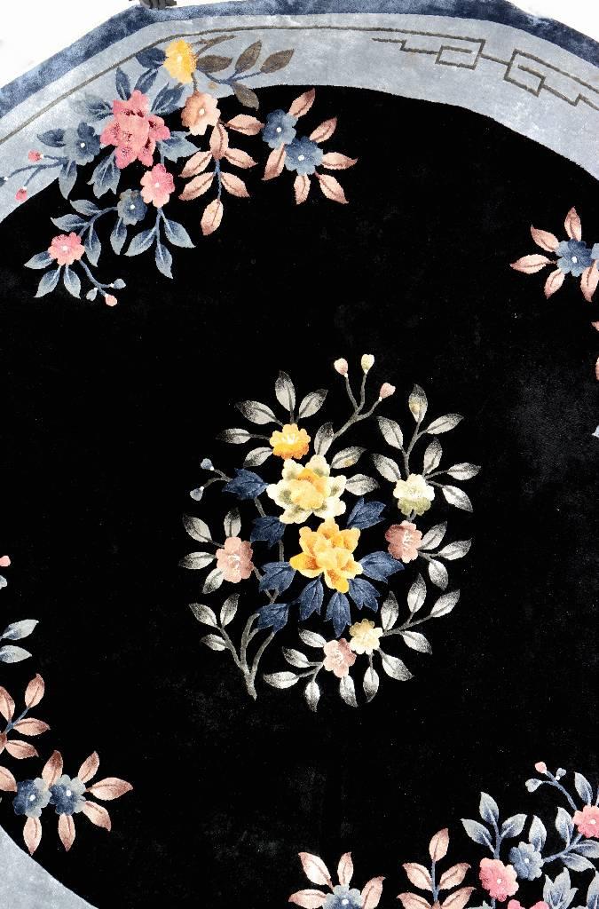 Chinese Silk 'Round-Rug',