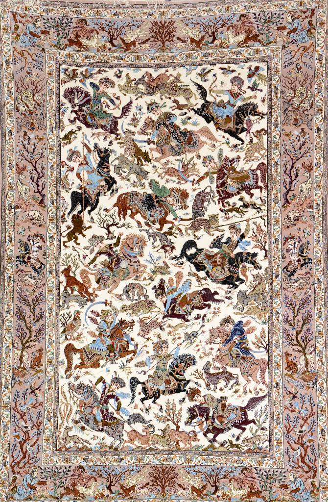 Isfahan 'Part-Silk' 'Abbas Mansouri' (Signed),