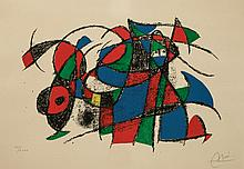 Joan Miro, 1893-1983, color lithograph, sign, numbered