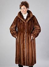 Saga Minkcoat, size approx. 42, brown, length