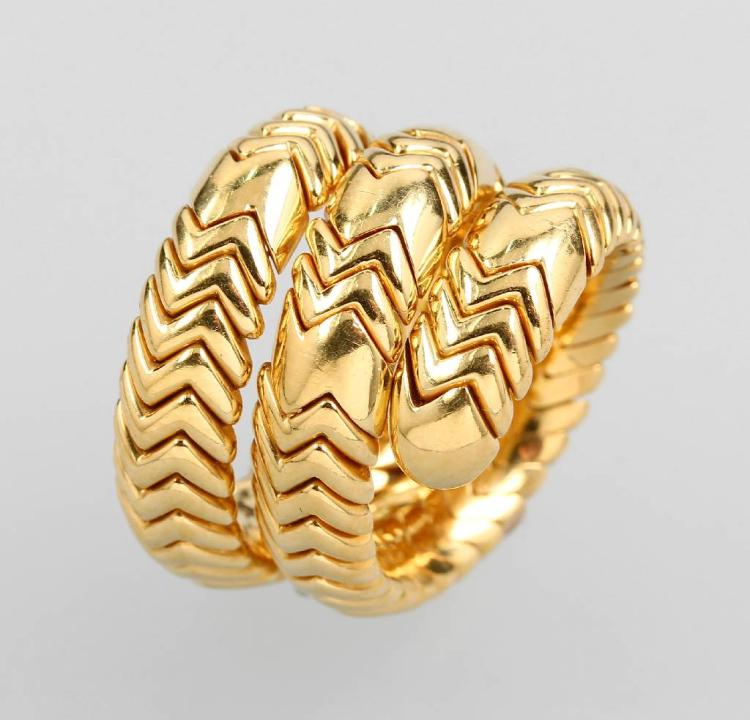 18 kt gold BULGARI ring