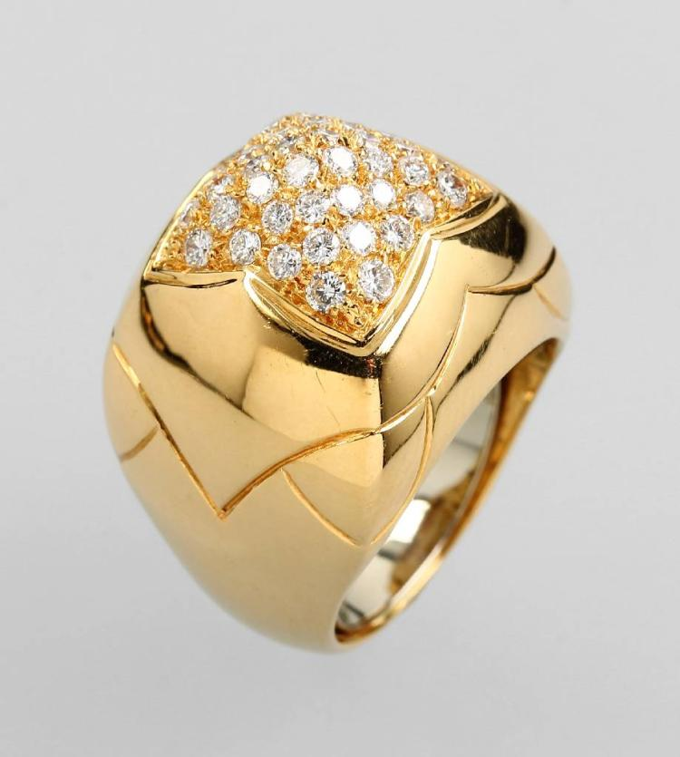 18 kt gold BULGARI ring 'PYRAMID' with brilliants
