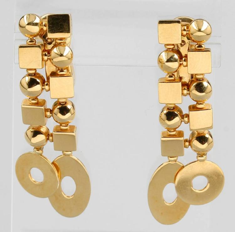 Pair of 18 kt gold BULGARI earrings