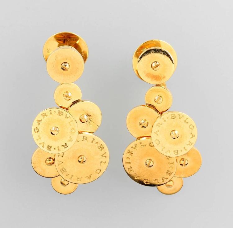 Pair of 18 kt gold BULGARI earrings