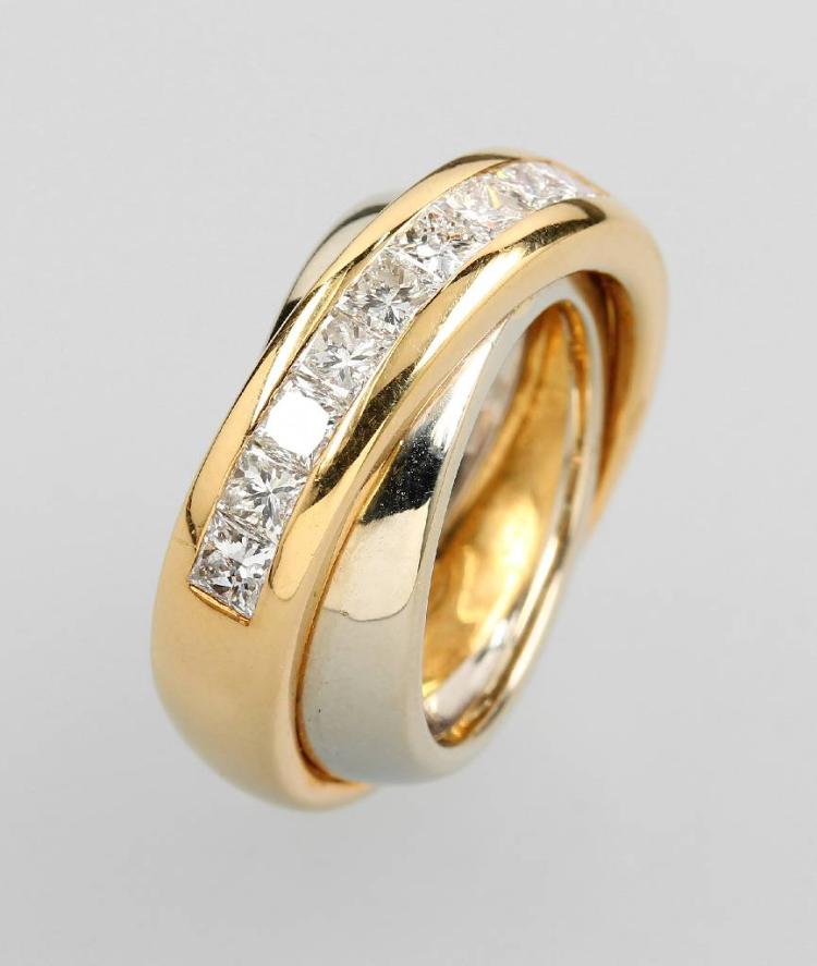 18 kt gold CARTIER ring with diamonds