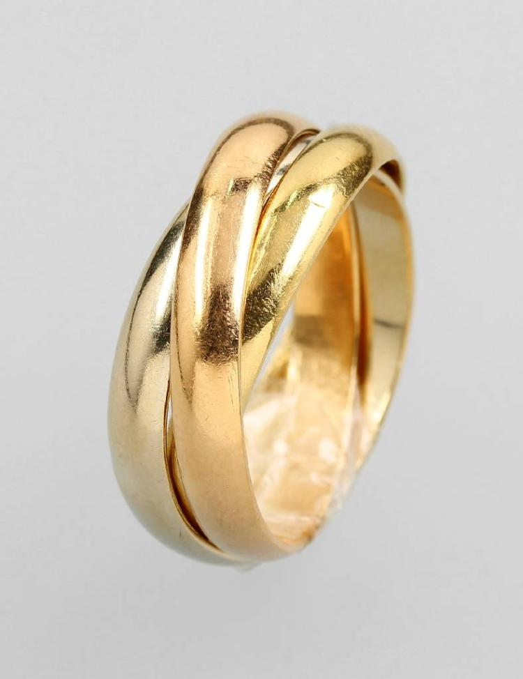 18 kt gold CARTIER Ring, 'Trinity'