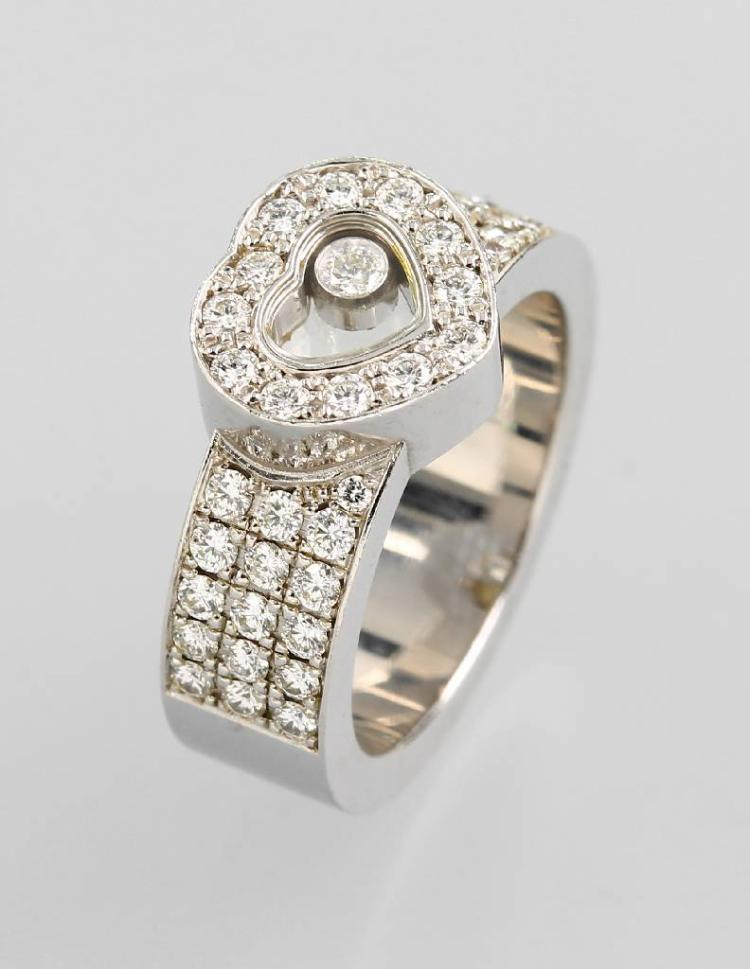 18 kt gold CHOPARD ring with brilliants