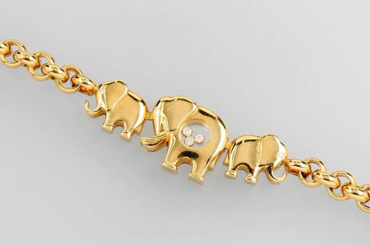CHOPARD Bracelet 'Happy Diamonds' with 3 elephants