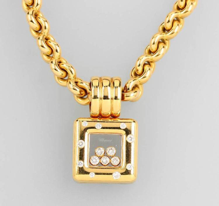 18 kt gold CHOPARD pendant 'Happy Diamonds'
