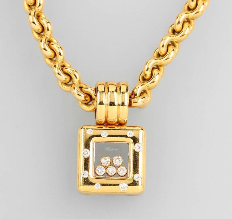 18 kt gold CHOPARD pendant 'Happy Diamonds'