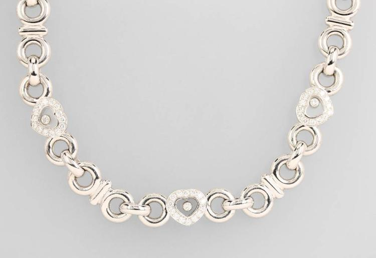 18 kt gold CHOPARD necklace with brilliants