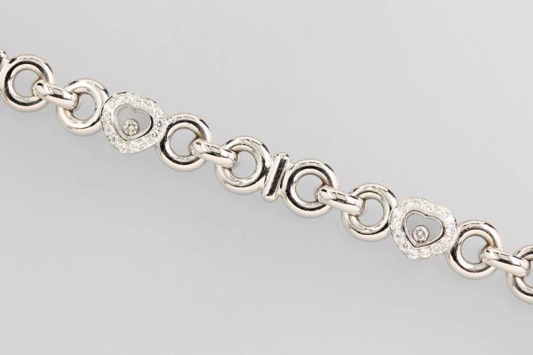 18 kt gold CHOPARD bracelet with brilliants