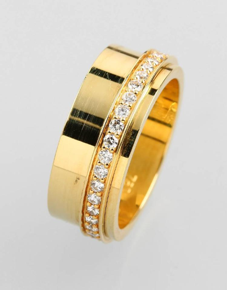 18 kt gold PIAGET gold ring with brilliants