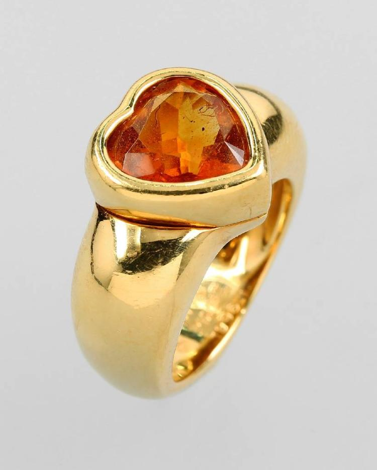 18 kt gold PIAGET ring with citrine